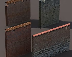 low-poly Castle Walls Low Poly 3d Model