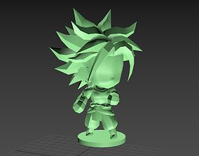 3D print model Broly SSJ chibi