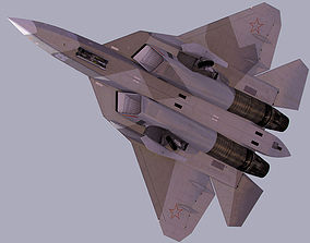 3D model Sukhoi PAK-FA T-50 stealth fighter jet