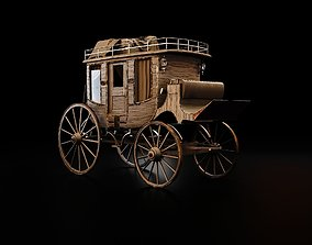 Bloodborne Style Stagecoach 3D model realtime