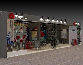3D Exhibition Stall Size 15 m x 5 m Height 350 cm