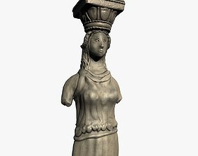 Caryatid pillar 3D model