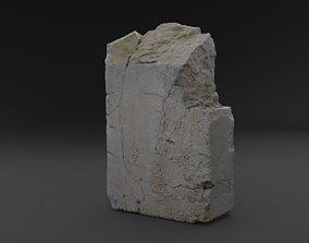 3D Scanned Broken Red Ceramic Brick RAW SCAN