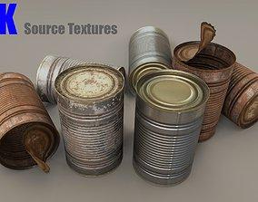 tin Tin Can 3D model low-poly
