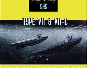 Uboat Wolf Pack-Types VII - VII-C 3D model