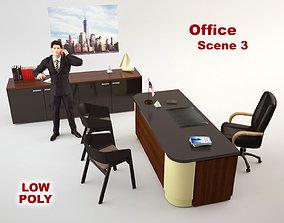 Office Scene 3 3D asset