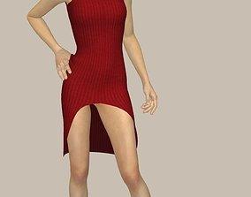 vestido elegante 3D asset