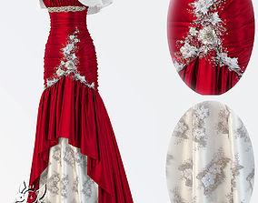 wedding dress characters 3D model
