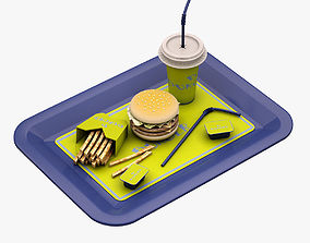 3D model Hamburger Set