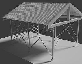 Carport 3D asset