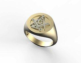 3D print model Free Mason Signet Ring