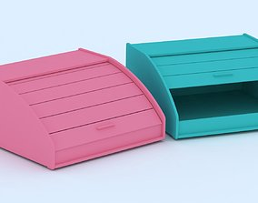 3D model dinner Bread Box