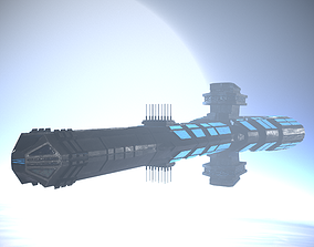 Spaceship 3D asset VR / AR ready space