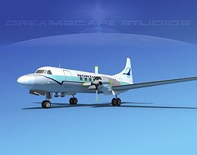 3D model Convair CV-580 North Central