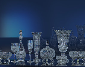 Decorative crystal glassware set 3D print model