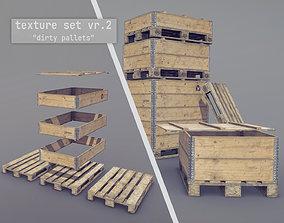 Cargo Wood Pallets Collars Cover EUR EPAL 3D asset