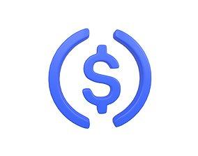 USD Coin v1 002 3D asset