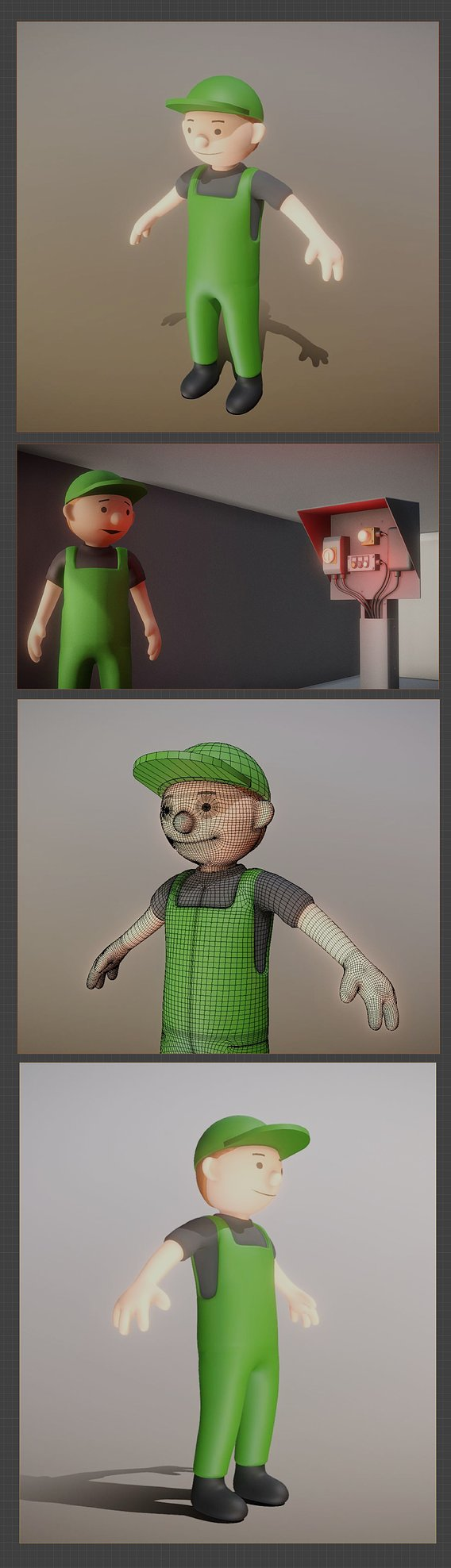 Toon Gardener High-Poly Version