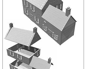 france or ardennen building -stl file 3D print model