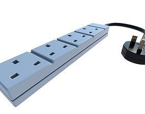 3D model UK Plug
