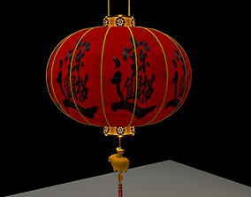 red Chinese Red Lantern 3D model
