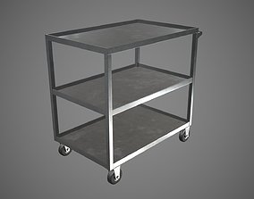 Trolley Stainless Steel PBR Game Ready 3D model