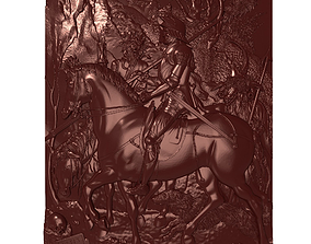 Knight and Death Bas relief 3D printable model