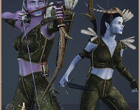 Elven Hunter 3D model
