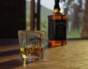 Jack Daniels Glass 3D