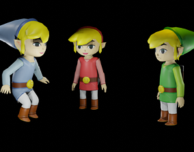 3D TOON LINK - RIGGED - PBR