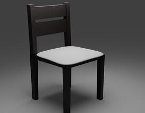 3D model VR / AR ready Modern Dining Chair