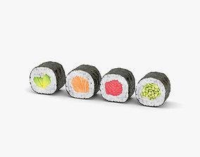 Sushi Maki Rolls 3D model
