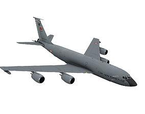 Boeing KC-135 R Stratotanker Turkish scheme 3D model