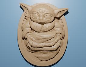 Baby Yoda Star Wars artcam aspire relief model 3D for CNC