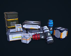 3D Sci-Fi Crates Pack