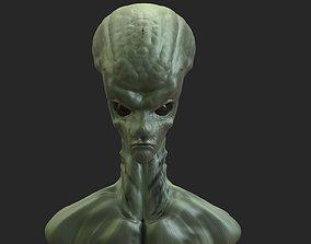 Alien Head 6 3D printable model