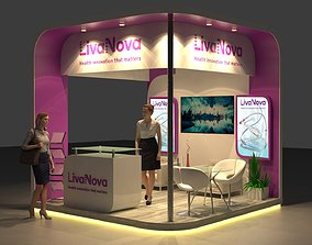 Exhibition Stand Design 3 x 3 x 3meter 3D model
