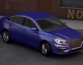 3D asset Sedan Car