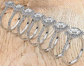 Odessa Diamond Ring 3D printable model