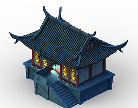 3D model Building ghost house - haunted house 01