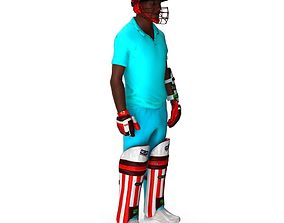 3D model Cricket player animated