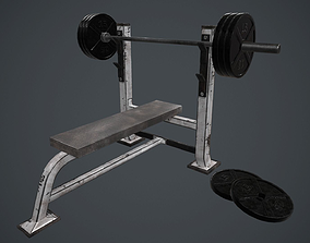 3D model Weight Bench PBR Game Ready