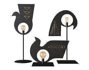 3D model AV Metal Pavoncelle Trio Lamp