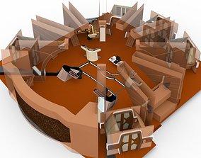 Starship Bridge 16 in various formats 3D model