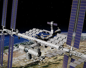 3D model rigged International Space Station
