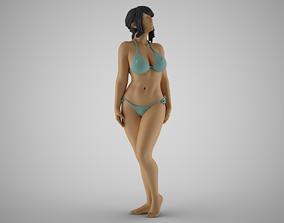3D print model Girl Nervous Turn