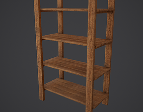 Medieval Tavern Style Shelf 3D model