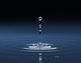 3D Splash 05 drop water light
