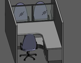 3D asset Consulting Cubicle