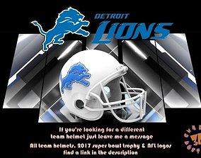 3D print model Detroit Lions Football Helmet